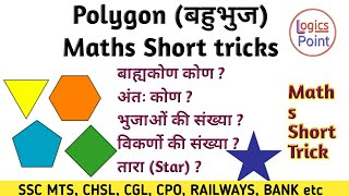 Polygon ( बहुभुज ) | Maths short tricks in Hindi || For SSC MTS , CHSL  CGL , CPO , BANKING  RAILWAY