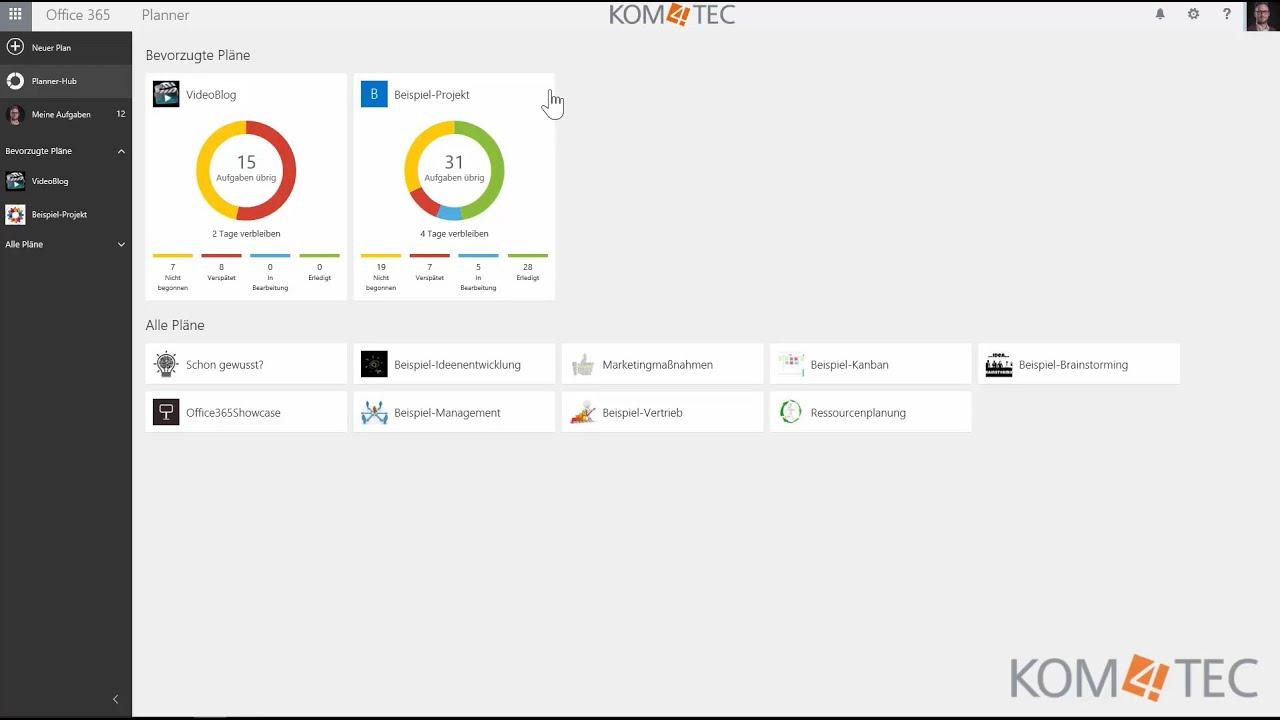 Microsoft Office 365 Planner Teil I: Einführung U0026 Grundfunktionalitäten