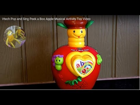 Vtech Pop and Sing Peek a Boo Apple Musical Activity Toy Video