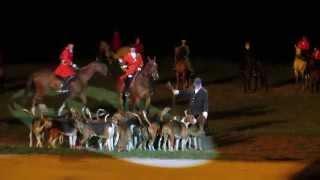 Extrait du spectacle de Saint Fargeau : la chasse à courre (Bourgogne 2014)