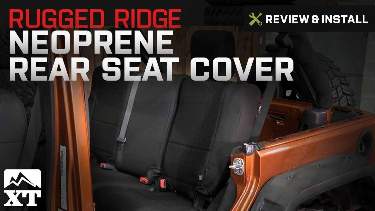 rugged ridge jeep wrangler neoprene rear seat cover black 13264 01 07 18 jeep wrangler jk 4 door  [ 1280 x 720 Pixel ]