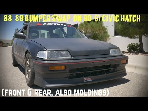 How to Remove & Replace Bumpers & Moldings on 88-91 Honda Civic Hatchback EF