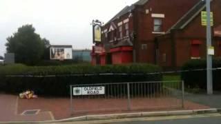 Lee erdman, 37, was shot dead at the wellington pub on regent road, salford