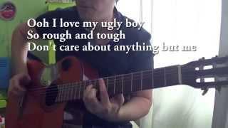 guitar chords die antwoord – ugly boy cover chords lyrics