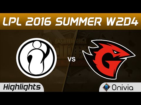IG vs GT Highlights Game 2 Tencent LPL Summer 2016 W2D4 Invictus Gaming vs Game Talents