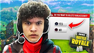 Deleting Little Brother's Fortnite Account *PRANK*
