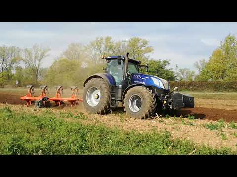 New Holland T7315 + Aratro Pentavomere