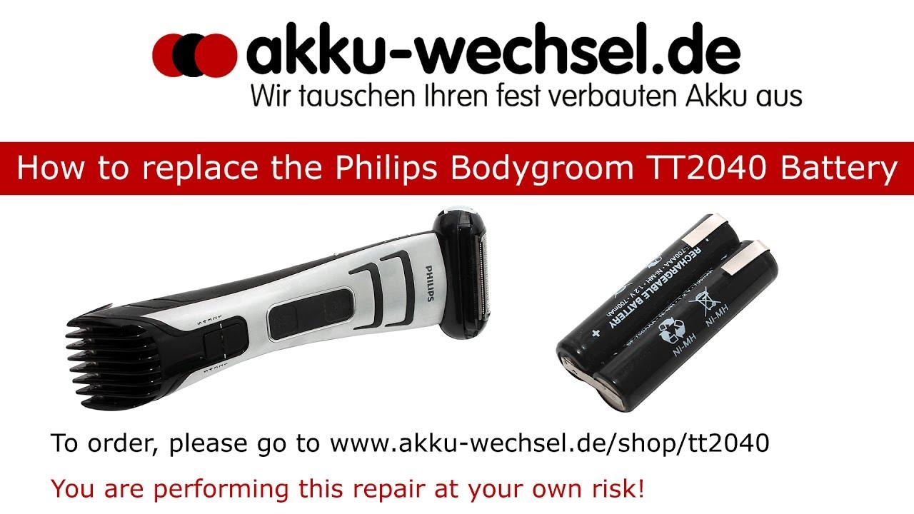 Akku für Philips 7000 TT2040//32 Bodygroom Series Vakuum Bartschneider 2,4V