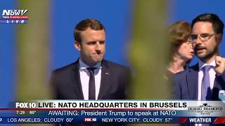 WATCH: Newly-Elected French President Emmanuel Macron Arrives at NATO Headquarters