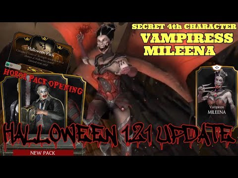 HALLOWEEN 1.21 UPDATE!Secret Card VAMPIRESS MILEENA!Horor and Halloween Pack Opening!Mkx Mobile