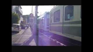 江ノ電を撮影した動画です。 踏切待ちの時と、駅中で到着した時に撮影し...