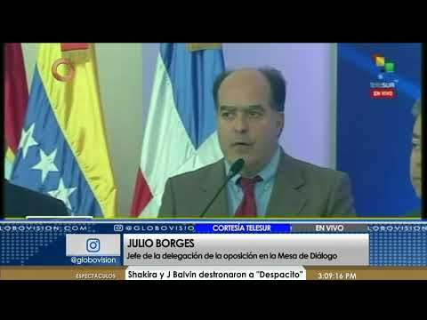 Julio Borges: El gobierno no firmó el documento por le tiene miedo a elecciones libres (Parte 1/2)