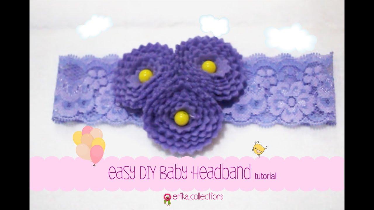 Easy Diy Baby Headband Tutorial Purple Flower Erika Felt