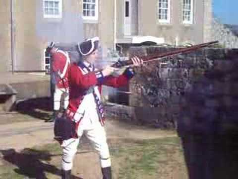 Brown Bess Musket Demo...3 in 46 sec's