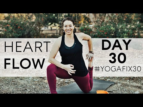 Heart Opening Flow...You DID IT!! Day 30 With Fightmaster Yoga