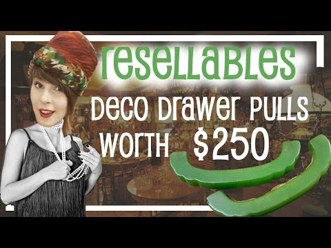 Deco Drawer Pulls Worth $250! - Resellables - Antique Reselling & Picking