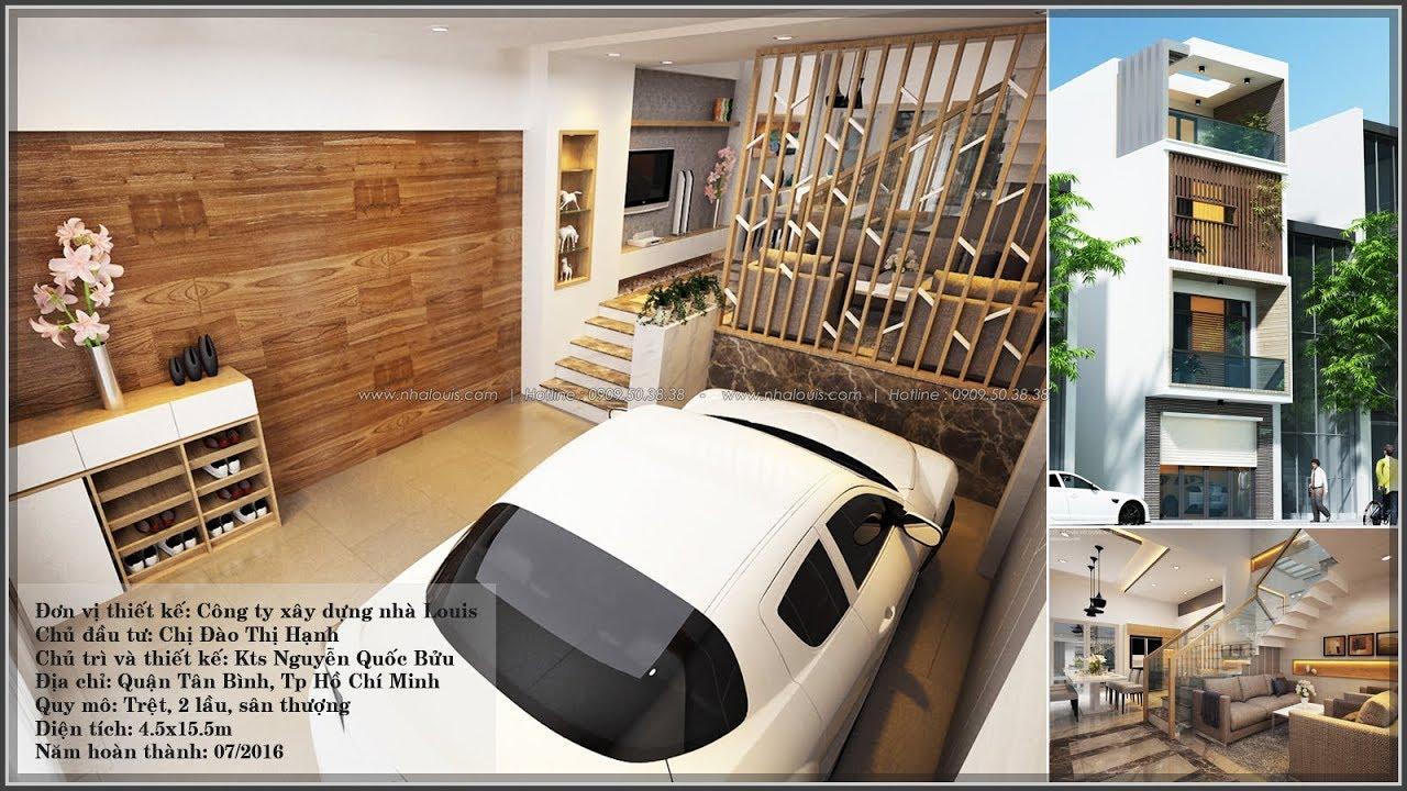 Thiết kế nhà lệch tầng đẹp 4.5m x 14.5m hiện đại tại Quận Tân Bình