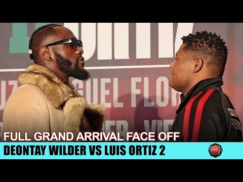 DEONTAY WILDER & LUIS ORTIZ FACE OFF IN LAS VEGAS AT THEIR GRAND ARRIVAL AHEAD OF REMATCH!