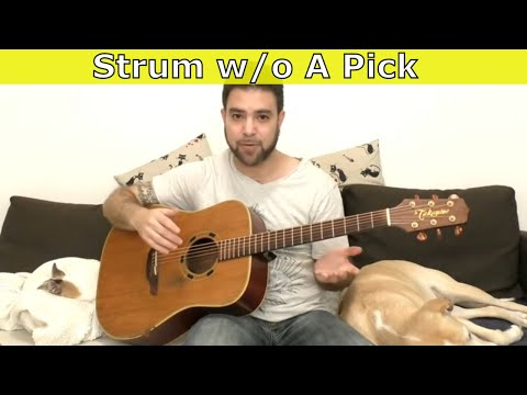 3 Methods for Strumming Without A Pick - Guitar Lesson Tutorial
