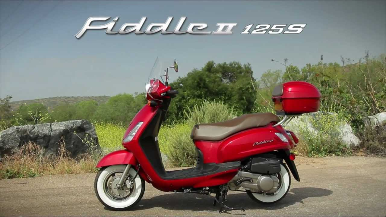 official sym fiddle ii 125 scooter video distributed by youtube. Black Bedroom Furniture Sets. Home Design Ideas