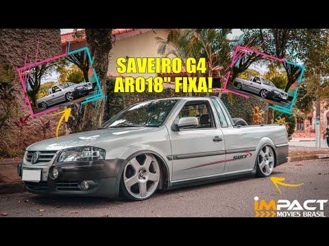 Impact-Movies Brasil Saveiro G4 surf rodas santa monica aro 18 suspensão rosca