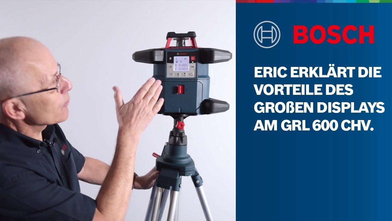 Eric erklärt die Vorteile des großen Displays am GRL 600 CHV Professional