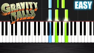 Gravity Falls Theme - EASY Piano Tutorial by PlutaX - Synthesia