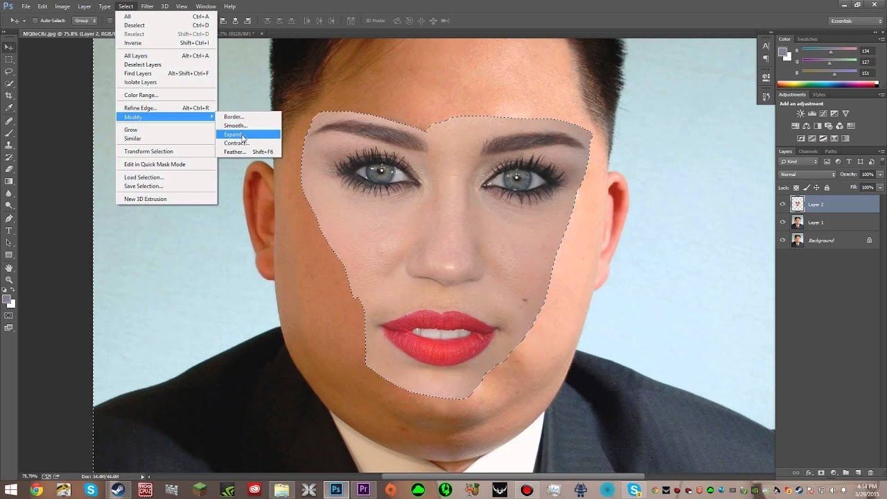 How to Blend Two Faces in Adobe Photoshop Cs6 - YouTube