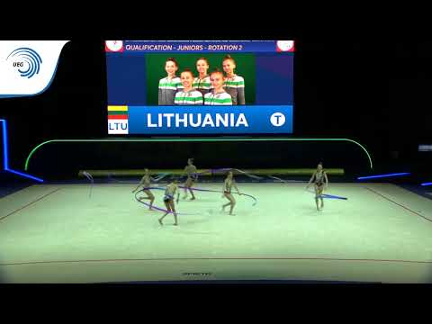 Lithuania - 2019 Rhythmic Gymnastics Europeans, junior groups 5 ribbons qualification