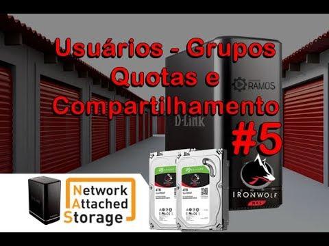 🚀 NAS D-LINK Usuários - Grupos - Quotas e Compartilhamento  | Network Attached Storage #5