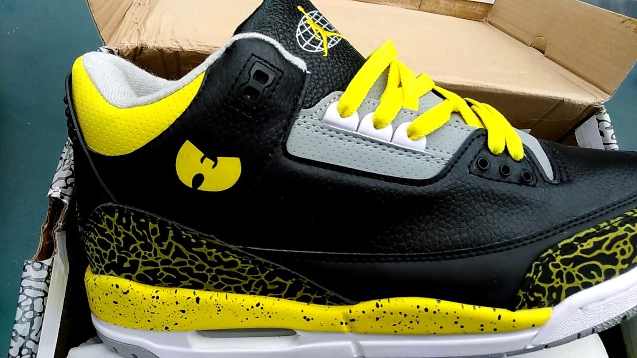 premium selection 8126e 3ee92 Air Jordan Retro3 Wu Tang