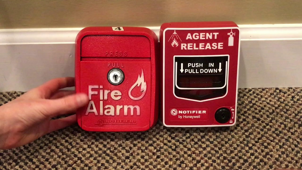 small resolution of  double demo of 2 notifier pull stations nbg 12lr and lng 1r with safety security alert fire alarm person