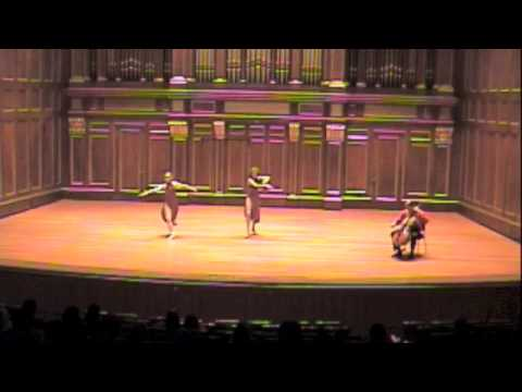 Bach Solo Suite #3 for Cello, Sarabande- Emmanuel Feldman, cello- Rebecca Rice Dance