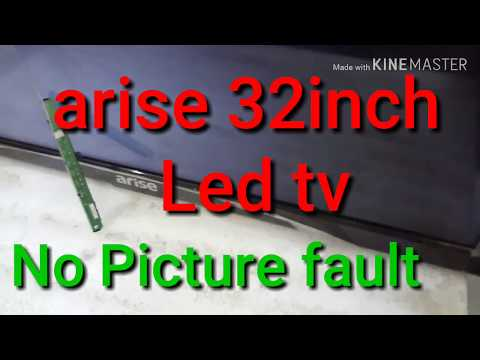 #arise #Led tv 32inch  #No #Picture #Sound ok Fault