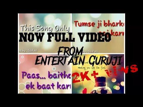 Paas Baitho Na //Full lyrics video song/// Edited by : Saif Ali