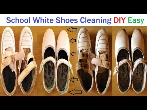 school white shoes cleaning with detergent and toothpaste easy | diy | howtofunda