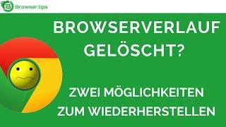 Google Chrome Browserverlauf wiederherstellen | Zwei Möglichkeiten