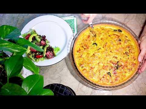quiche-aux-légumes-et-thon-facile-كيش-لذيذ-بالخضرو-التون-ناجح-100%-بعجين-سهل-التحضيرفي-دقائق
