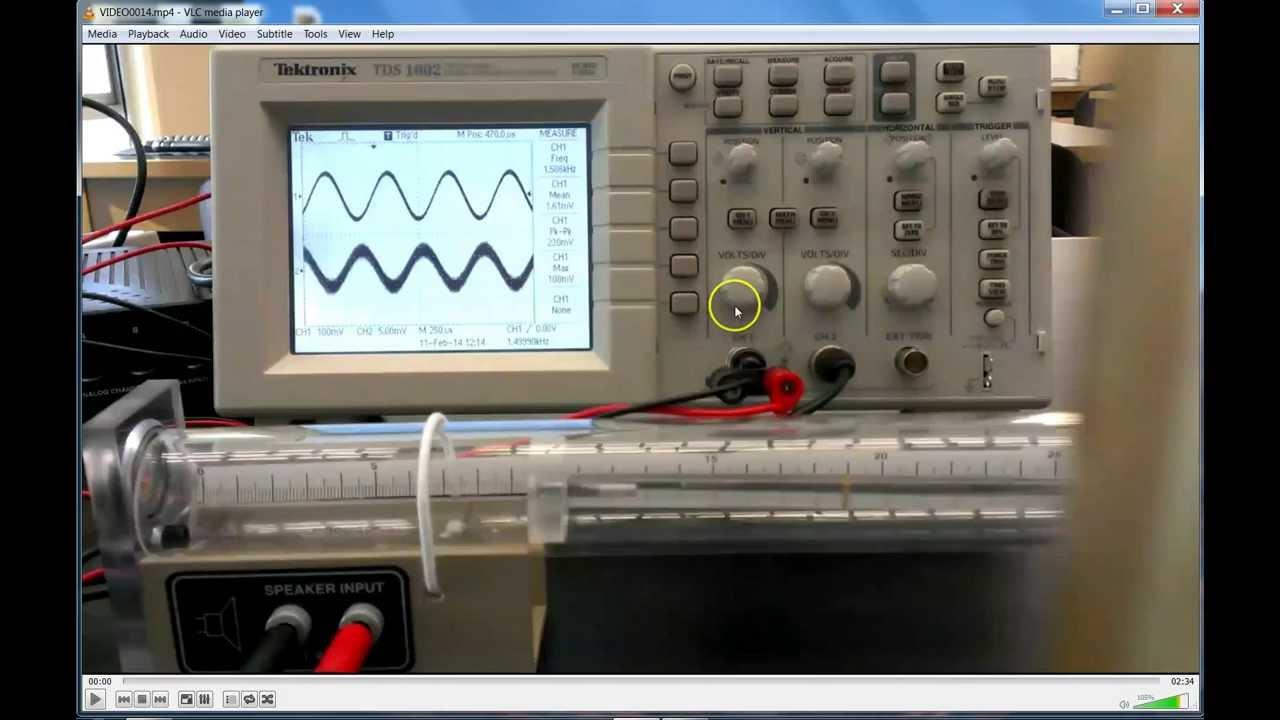 Oscilloscope demo, Longitudinal Standing Wave Lab
