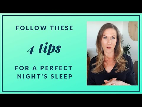 Follow these 4 tips for a perfect night's sleep