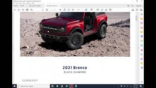 Ford Bronco order conversion for Ford dealers