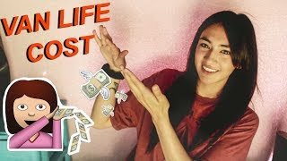 van life budget - how much it costs to live in a van// how much mon...