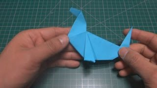 물개 종이접기 [진진종이접기] fur seal Origami,折纸,折り紙,оригами,اوريغامي