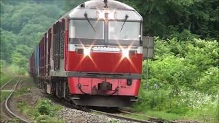 2018年7月3日(火)今日の「貨物列車」3059レ DF200-10+コキ20B 札幌貨物ターミナル行