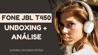 UNBOXING E IMPRESSÕES | FONE JBL T450 WHT