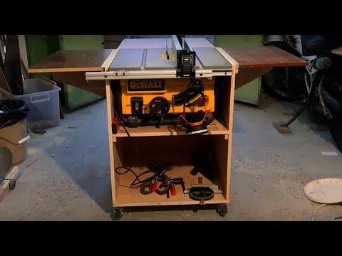 Dewalt Table Saw Station With Folding Out Feed Table