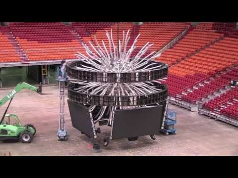 AmericanAirlines Arena LED Removal