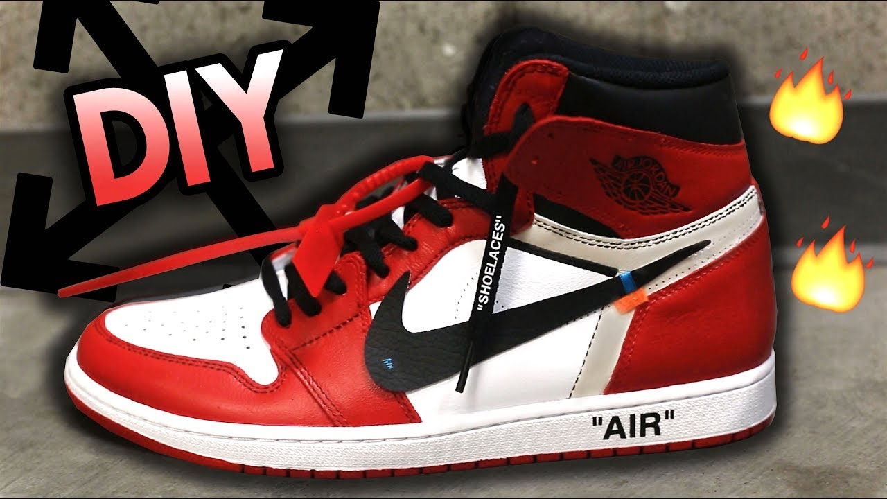 HOW TO: OFF WHITE JORDAN 1 CUSTOM FROM WHITE YIN YANG 1'S + GIVEAWAY!