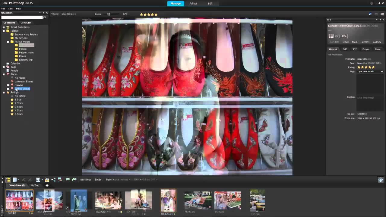 Tutorial Paintshop Pro X5 Workspace Tour Manage And Adjust Youtube