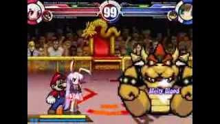 Reisen & Super Mario vs Arima Miyako & Bowser MUGEN Battle!!!